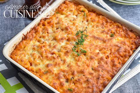 recette cuisine au four gratin de pates au thon amour de cuisine