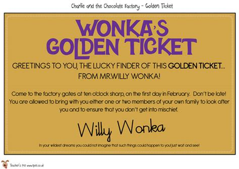 Golden Ticket Printable Template by 4 Best Images Of Free Printable Golden Ticket Template