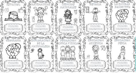 portadas para primer grado portadas expediente 7 imagenes educativas bonitas portadas