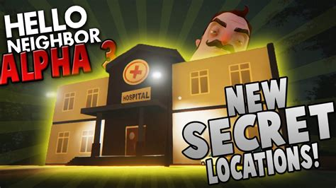 cheats to access factory hospital more hello neighbour hello neighbor alpha 3 gameplay