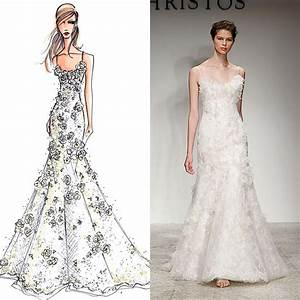 designer wedding gowns from sketch to dress bridescom With wedding dress designer online