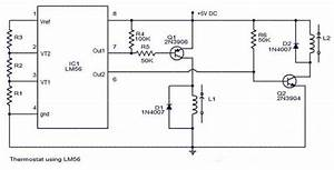 Thermostat Circuit With Ic Lm56  U2013 Circuit Wiring Diagrams