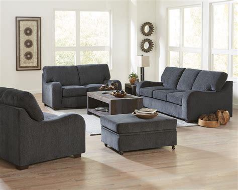 Blue Chenille Sofa by Progressive Furniture Nora Grayish Blue Chenille Sofa