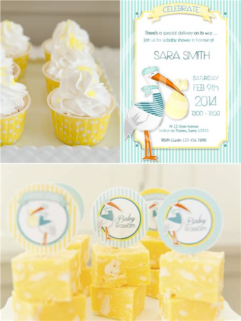 Stork Themed Baby Shower Brunch & Diy Party Ideas Party
