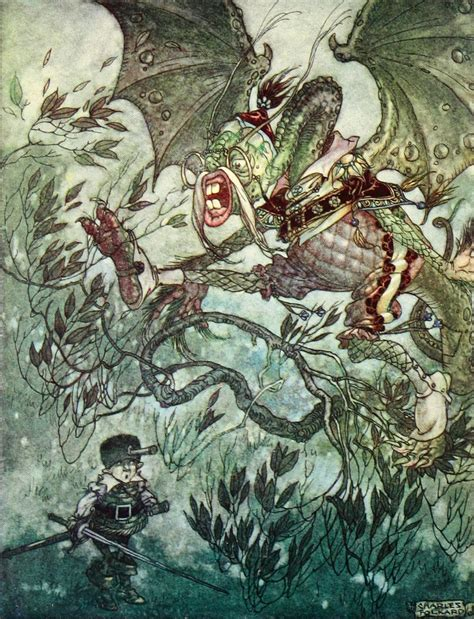 Charles Folkard Illustration He Took His Vorpal Sword In