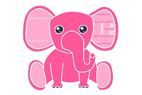 Are you searching for birth announcement png images or vector? Birth stats elephant svg, baby girl #Designer#Edition# ...