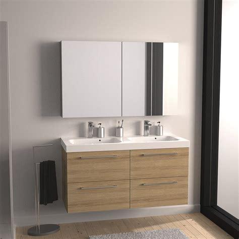 meuble sous vasque l 121 x h 57 7 x p 46 cm imitation ch 234 ne sensea remix leroy merlin