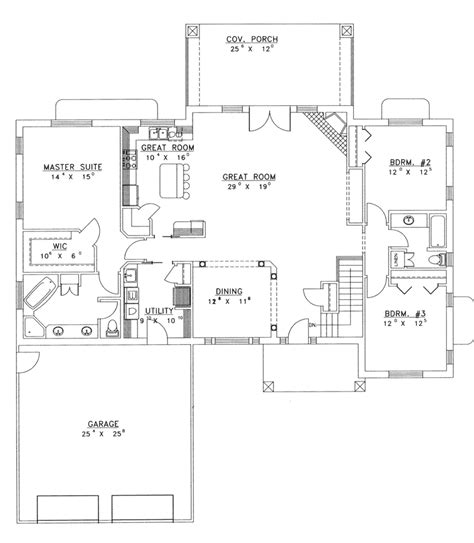 Ranch House Plans Open Floor Plan by Ranch House Plans With Open Floor Plan Chanhassen Ridge