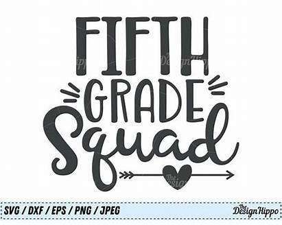 Svg Grade Squad Teacher 5th Fifth Team