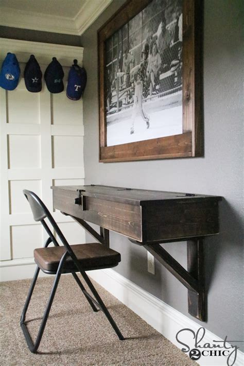 how to make a floating desk diy floating desk with storage shanty 2 chic