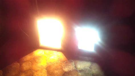 halogen light vs led power led 80w vs 1000w halogen youtube