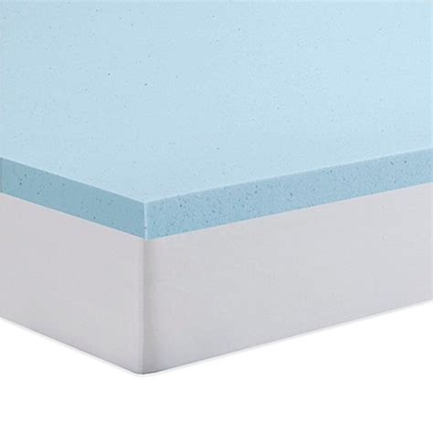 serta gel memory foam mattress topper serta 174 2 inch gel memory foam mattress topper bed bath