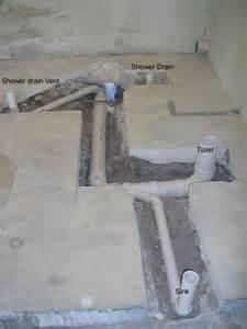 Toilet Plumbing Rough in Concrete