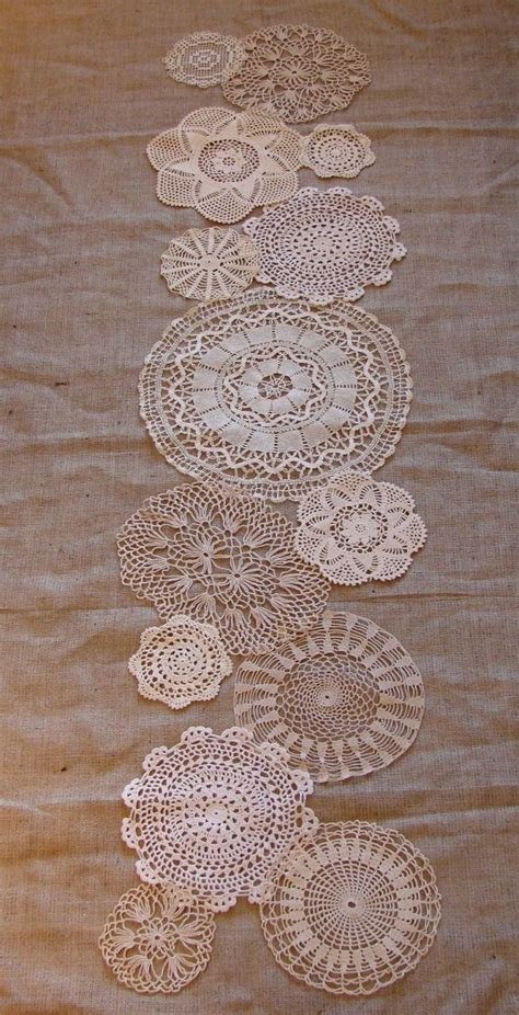 burlap table runner with lace lace table runner and burlap by jeanl sewing projects