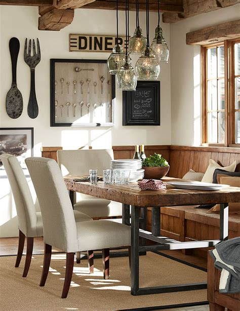 Pottery Barn Wall Decor Kitchen by 17 Best Ideas About Rustic Dining Rooms On
