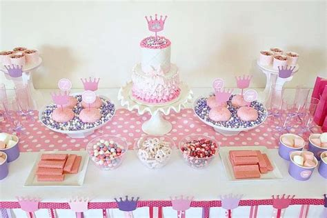 tavoli addobbati per compleanni festa a tema principesse fai da te
