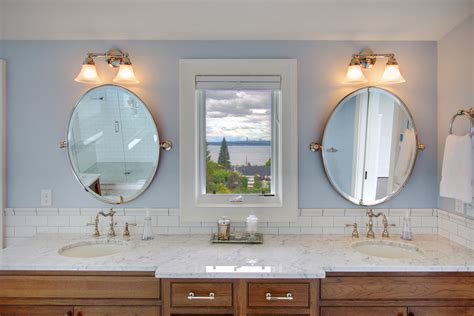 Pivot Mirror Bathroom Farmhouse With Antique Feel Antique