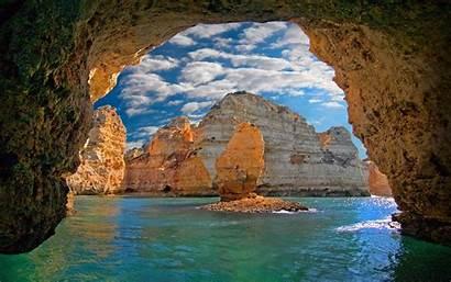 Portugal Cave Nature Sea Landscape Water Island