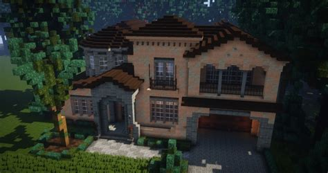 mediterranean style traditional house minecraft building