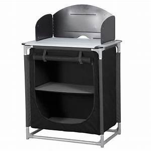 Meuble De Cuisine Noir : meuble camping meuble de cuisine camping aluminium noir highlander ~ Teatrodelosmanantiales.com Idées de Décoration