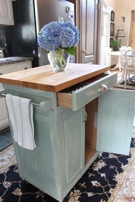Kitchen Island Storage Ideas - rolling kitchen cart makeover confessions of a serial do it yourselfer