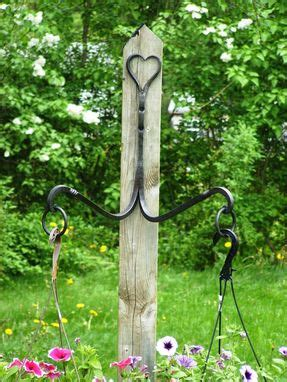 custom wrought iron double plant hanger  hawleys fine