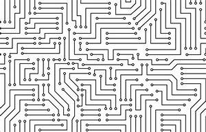 black and white printed circuit board vector art thinkstock With or photo of computer electronic circuit cpu board breaking binary code