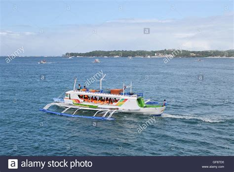 Ferry Boat Philippines boracay island ferry boat in the philippines stock photo