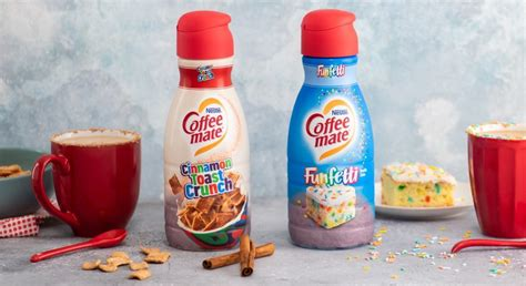 There also will be a cinnamon toast crunch creamer that has cinnamon, brown sugar and hints of toasted cereal. Coffee Mate Has Cinnamon Toast And Funfetti Creamers - Simplemost