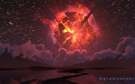 Wallpaper Iphone Digital Blasphemy by Digital Blasphemy 3d Wallpaper Shattered Sky By Bliss
