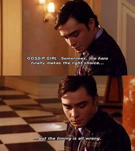 """Gossip Girl. The Upper East Side. Chuck Bass. """"Sometimes ..."""