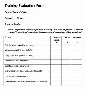 Workshop feedback evaluation form video search engine at for Post training evaluation template