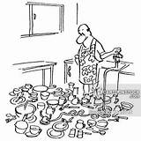 Dishes Sprinkler Doing Dish Cartoons Cartoon Garden Drawing Comics Funny Washer Husband Dishwasher Cartoonstock Washes Getdrawings Inventor Dislike sketch template
