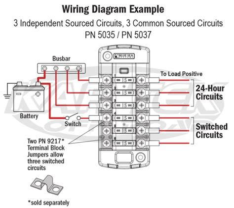 Blue Sea System Separate Circuit Ato Blade Fuse Block