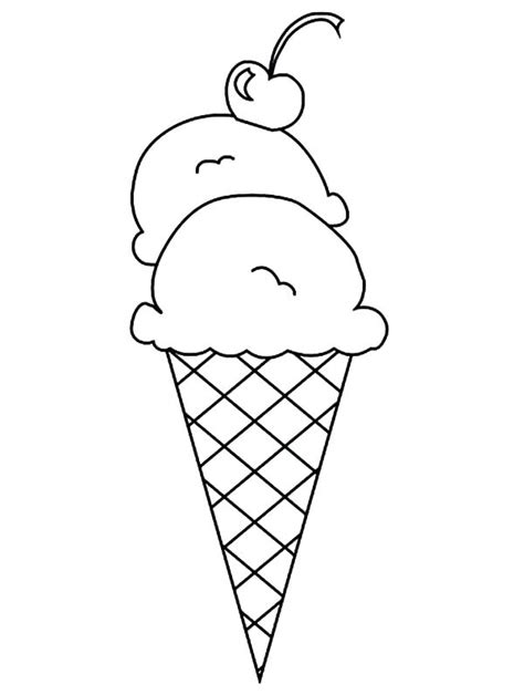 icecream cone drawing  getdrawingscom