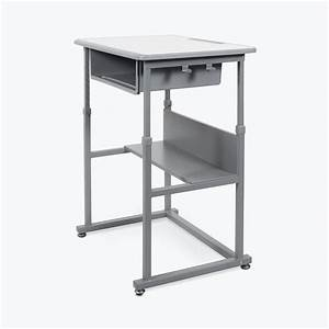 Luxor Manual Adjustable Student Desk