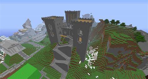minecraft mountain castle youtube