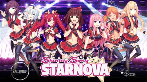 shining song starnova idol anime themed visual