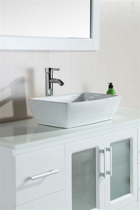 single vanity cabinet with vessel sink 48 quot stanton single vessel sink vanity b48 vs w