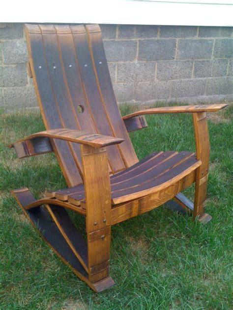 wine barrel stave rocking chair wine barrel chairs