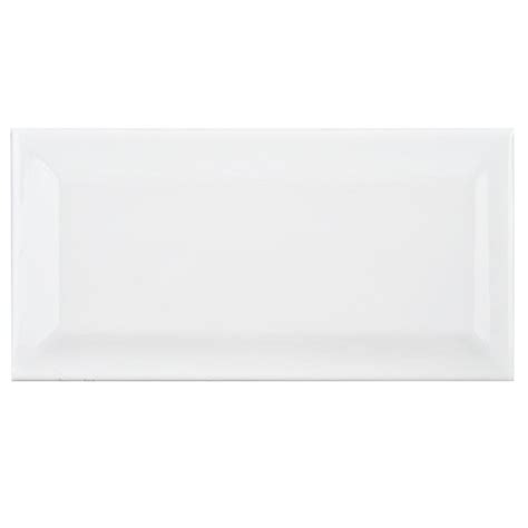 merola tile park slope subway beveled glossy white 3 in x