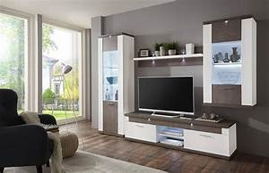 Graue Möbel Welche Wandfarbe : einfach graue wohnwand cool lirou in eiche grau braun pharao wohnzimmer wunderbar anbauwand ~ Markanthonyermac.com Haus und Dekorationen