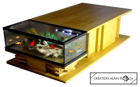 table basse aquarium exotica contemporain table basse autres p 233 232 tres par alain floch