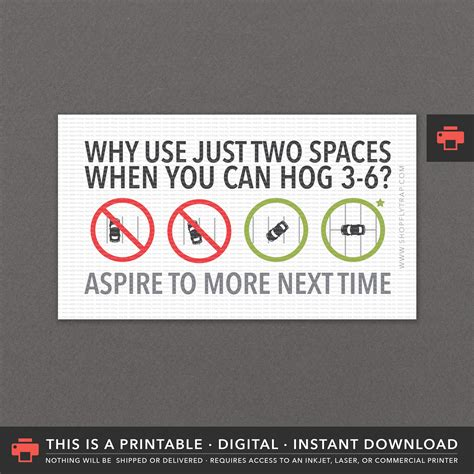 funny  minute gift printable bad parking notes cards