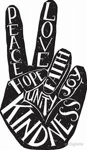 """""""Peace Sign with words Peace, Love, Faith, Joy, Hope"""