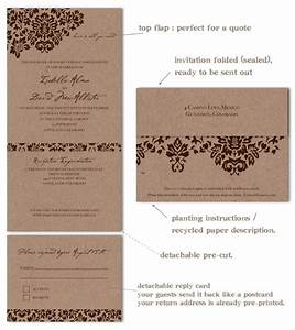 recycled wedding invitations dan39s mask vintage edition With all in one wedding invitations recycled