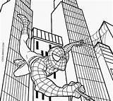 Spiderman Coloring Printable sketch template
