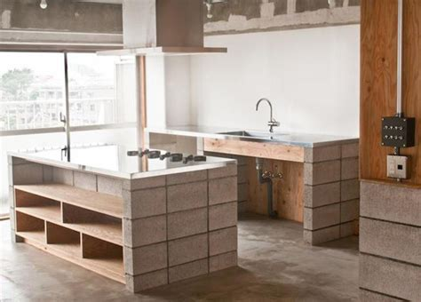 concrete cabinets kitchen on the block cinder blocks as design elements the