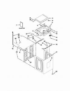 Top And Cabinet Parts Diagram  U0026 Parts List For Model Mvwx700xw2 Maytag