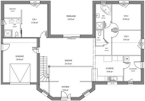 plan maison plain pied 4 chambres gratuit awesome nos maisons plans poitiers plans maisons ossature